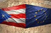Puerto Rico and European Union — Stock Photo