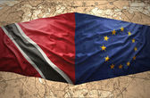 Trinidad and Tobago and European Union — Zdjęcie stockowe