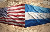 Honduras and United States of America — Стоковое фото
