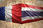 Thailand and France — Stock Photo