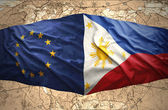 Philippines and European Union — Stock Photo