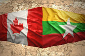 Myanmar und kanada — Stockfoto