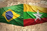 Myanmar und brasilien — Stockfoto
