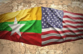 Myanmar and United States of America — Foto de Stock