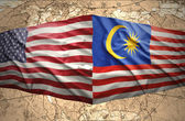 Malaysia and United States of America — Foto Stock