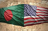 Bangladesh and United States of America — Foto Stock