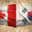 South Korea and Canada — Stock Photo #39848679