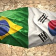South Korea and Brazil — Stock Photo