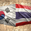 South Korea and Thailand — Stock Photo