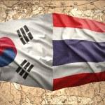 South Korea and Thailand — Stock Photo