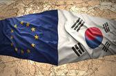 South Korea and European Union — Stock Photo