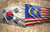 South Korea and Malaysia — Stock Photo
