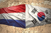 South Korea and Netherlands — Stock Photo