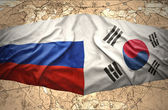 South Korea and Russia — Stock Photo