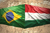 Hungary and Brazil — Foto de Stock