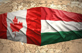Hungary and Canada — Stok fotoğraf