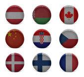 Colagem de hóquei do mundo (à f) — Fotografia Stock