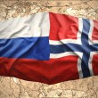 Stock Photo: Norway and Russia