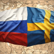 Stock Photo: Sweden and Russia