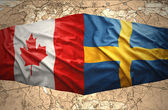 Sweden and Canada — Stock Photo