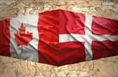 Denmark and Canada — Stock Photo