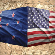 New Zealand and United States of America — Stock Photo