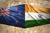 New Zealand and India — Stock Photo