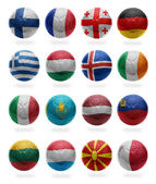European Football . Collage from F to M — Stock Photo