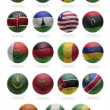 African Football from G to R — Stock Photo