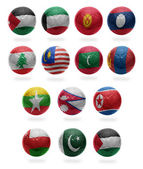 Asian Football  from J to P — Stock Photo