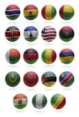 African Football  from G to R — Стоковое фото