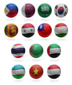Asian Football  from P to Y — Stock Photo