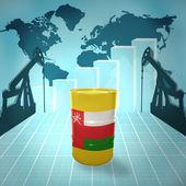 Oil barrel with Omani flag — Stock Photo