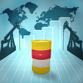 Oil barrel with Indonesian flag — Stock Photo