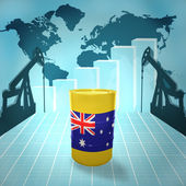 Oil barrel with Australian flag — Stock Photo