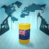 Oil barrel with New Zealand flag — Stock Photo