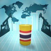 Oil barrel with Thailand flag — Stock Photo