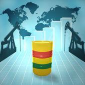 Olej z beczki z flaga boliwii — Zdjęcie stockowe