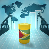 Oil barrel with Guyanese flag — Stock Photo