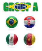 Brazil. Group A. Realistic Football balls — Stock Photo