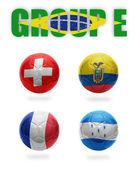Brazil. Group E. Realistic Football balls — Stock Photo