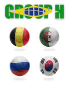 Brazil. Group H. Realistic Football balls — Stock Photo