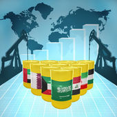 Middle East Oil Power — Stock Photo