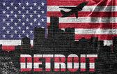 Cidade de detroit — Foto Stock