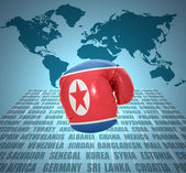 North Korea Fist — Stock Photo