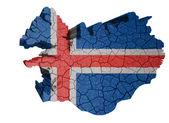 Iceland Map — Stock Photo