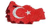 Turkish Map — Stock Photo