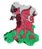 Wales Map — Stock Photo