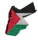 Jordan Map — Stock Photo