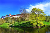 Shnelli parku黒と白の塔 — Zdjęcie stockowe